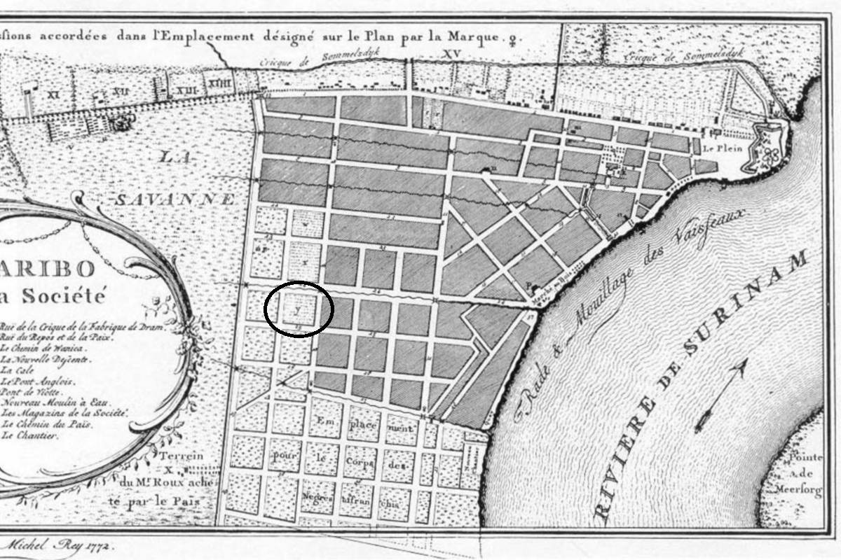 Map of Rey 1772